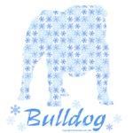 Blue Snowflake Bulldog