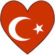 Turkish Flag Heart Valentine