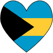 Bahamanian Flag Heart Valentine