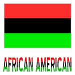 African American Flag & Words