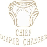 Chief Diaper Changer Dad T-shirts Gifts