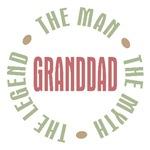 GrandDad Man Myth Legend T-shirts Gifts