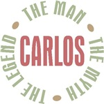 Carlos the Man the Myth the Legend T-shirts Gifts