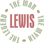 Lewis the Man the Myth the Legend T-shirts Gifts