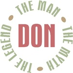 Don the Man the Myth the Legend T-shirts Gifts