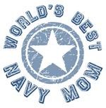 World's Best Navy Mom Tees Gifts