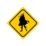 Bagpipe Player Crossing