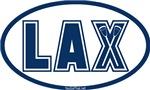 Lacrosse Lax Oval Blue