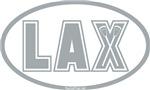 Lacrosse Lax Oval Gray