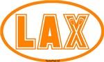 Lacrosse Lax Oval Orange