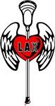 Lacrosse Tattoo Heart