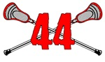 Lacrosse Number 44 (red v2)
