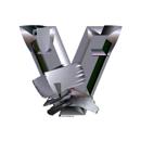 Heavy Metal initial letter V monogram