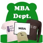 MBA Department for Funny Business T-Shirts & Gifts