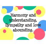 Harmony & Understanding - Goodies