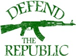 DEFEND THE REPUBLIC (green ink)