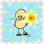 chick n daffodil