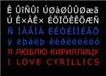 I love cyrillics