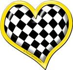 Yellow Race Heart