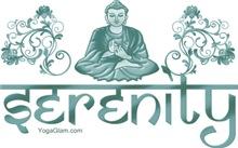 Serenity meditation dark blue-green