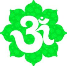 Om Lotus in Green