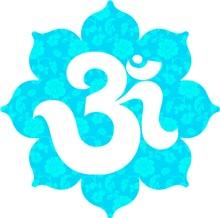 Om Lotus in Baby Blue