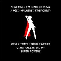 Superheroine Firefighter