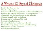 Writer's 12 Days of Christmas