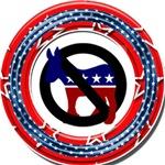 No Democrat Button