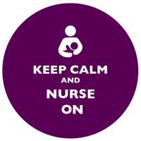 Keep Calm and Nurse On Purple