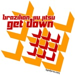 Get Down BJJ tees - squares design