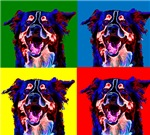 Border Collie Abstract