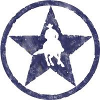 Distressed blue star turnaround
