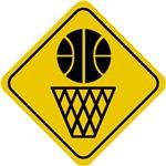 Basketball Crossing Sign