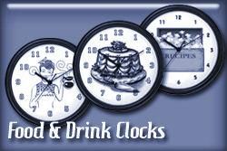 Food and Drink Occupations Wall Clocks