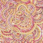 Pink Gold Paisley Pattern
