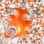 Orange White Summer Fractal