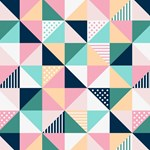 Cute Pink Aqua Triangle Pattern