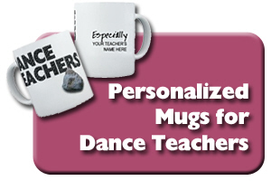 Personalized Dance Teacher Mugs