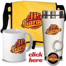 JP's Garage Drinkware, Bags, Key Chains & More
