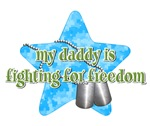 Daddy Fighting For Freedom (Blue)