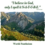 'I believe in God.' quotation - Mountains