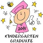 Cute Girl Kindergarten Grad 2015
