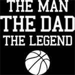 Legendary Basketball Dad WHT