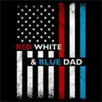 Flag Red White and Blue Dad