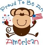 Proud American Boy Monkey