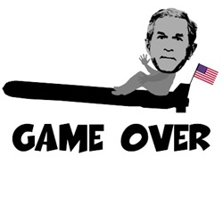 George W Bush game over T's