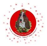 Basset Hound Christmas design