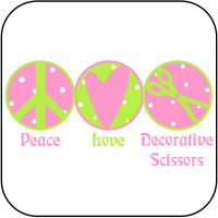 Peace, Love, Scissors