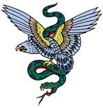 Eagle and Snake Tattoo